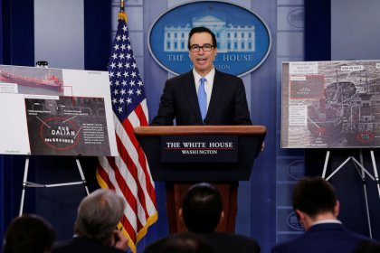 U.S. Treasury head says new Russia sanctions expected within weeks