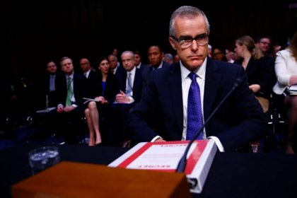 Trump critics attack firing of FBI's McCabe as political move