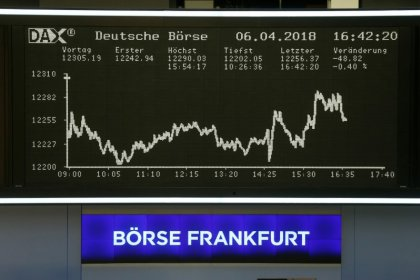 European shares rise on easing trade worries, Italian bargain hunting