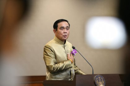 Thai PM reiterates no vote until 'early 2019', as protesters gather