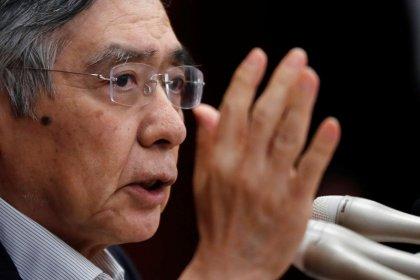 BOJ's Kuroda warns of trade perils, echoes Abe on exiting easy policy