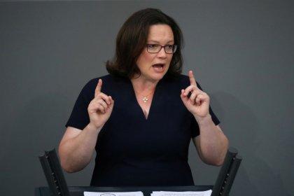 Nahles wehrt sich gegen SPD-Kritik im Fall Maaßen