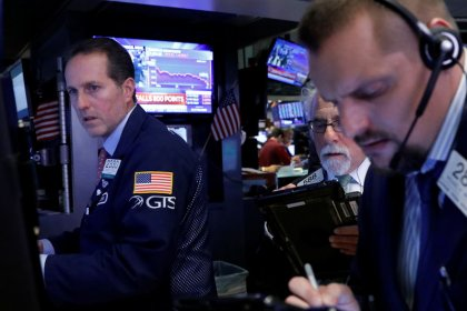 Corrected: S&P tumbles as investors shun risk