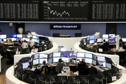 European shares hit 22-month low, risk-off mood prevails
