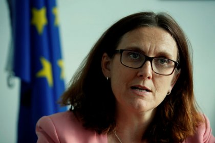 Trump rhetoric unhelpful for trade talks, says EU's Malmstrom