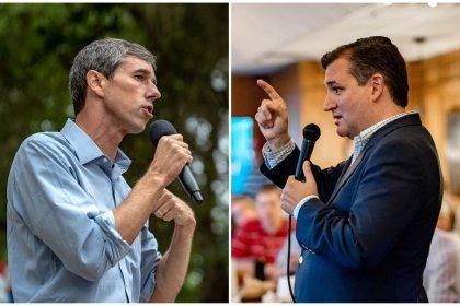 In Texas Senate showdown, Beto O'Rourke faces off against Ted Cruz
