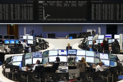 European shares edge up as earnings flurry quells Fed angst