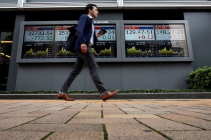 Asian shares struggle as European woes, Saudi concerns dim mood