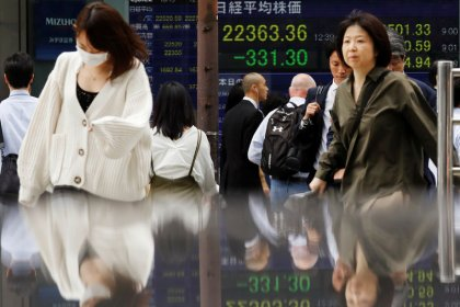 Asia stocks edge up as Wall St. shows resilience, oil near two-month lows