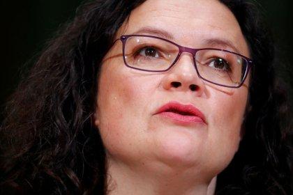 """Nahles will """"definitiv nicht"""" ihr Amt als Parteichefin räumen"""