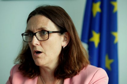 EU's Malmstrom urges China to help reform WTO or risk U.S. exit
