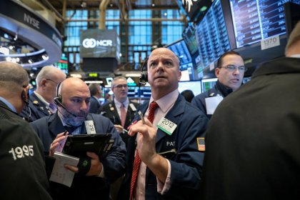 Wall Street advances on trade optimism; Nvidia, Facebook lag