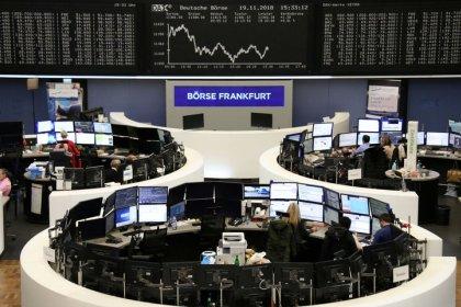 Sliding banks, tumbling tech drag European stocks to three-week low