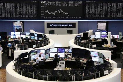 European markets bounce, euro dragged lower by weak business surveys