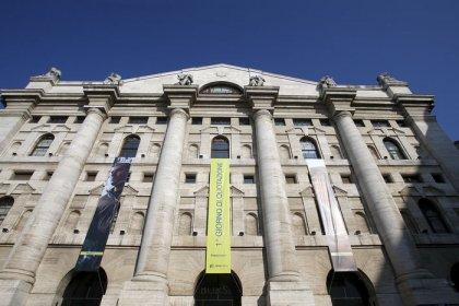 Italian stocks, banks surge on reports government to tweak deficit plan