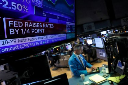 Two-year yield dips below key Fed rate for first time since 2008