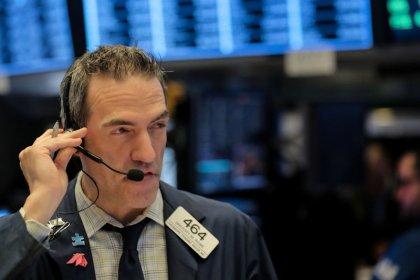 Apple, Facebook propel Wall Street to three-week peak