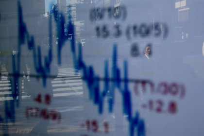 Global shares weather May's Brexit debacle, pound steadies