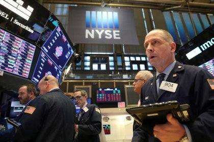 Upbeat bank earnings send Wall Street to one-month highs