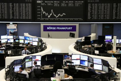 SocGen warning, Huawei frictions drag European shares