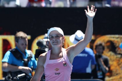 Barty reaches Melbourne quarters with win over Sharapova