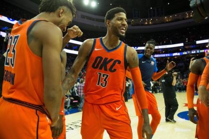 NBA roundup: George, Thunder edge Sixers in thriller