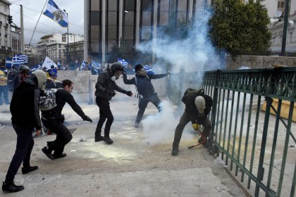Greeks rally against Macedonia name accord, police fire tear gas
