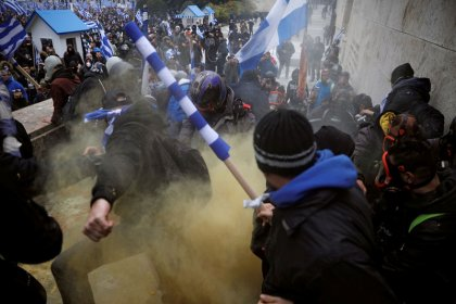Police fire tear gas as Greeks rally over Macedonia name deal