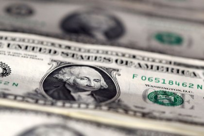 Dollar near three-week high after IMF cuts growth forecasts