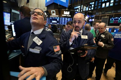 Wall Street slips on global growth fears, weak corporate forecasts