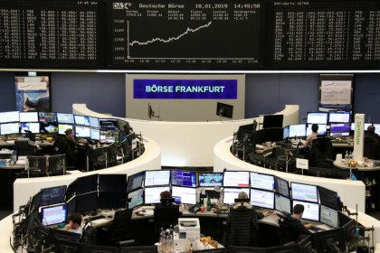 European shares hit highest level in nearly two months, helped by tech rally