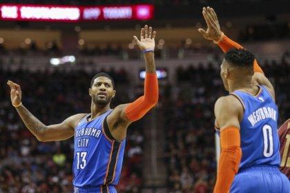 NBA roundup: Westbrook sets consecutive triple-double mark