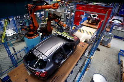 Slack demand, car woes cause Germany's industry share to slip