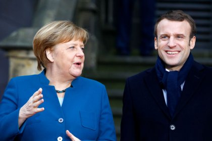 Macron verra Merkel mercredi sur le Brexit, les USA, la défense et l'UE
