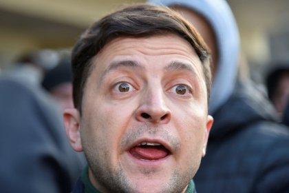 Komiker tritt ins Rampenlicht ukrainischer Präsidentenwahl