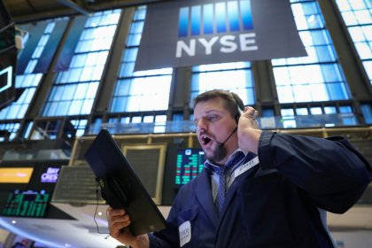 Wall Street ends higher, with biggest boost from banks