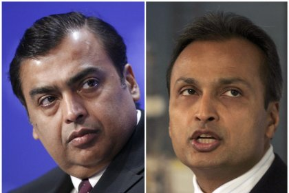 India's RCom jumps after Mukesh Ambani bails out brother Anil on Ericsson dues