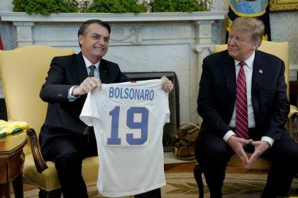 Trump se reúne com Bolsonaro, diz não ter hostilidade com Brasil e fala sobre Otan e apoio na OCDE