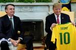 Trump y Bolsonaro estrechan lazos en una reunión en la Casa Blanca