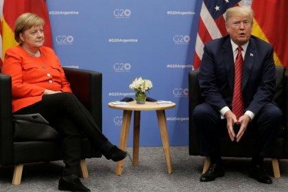 Trump, Germany's Merkel discuss trade, NATO funding, Brexit