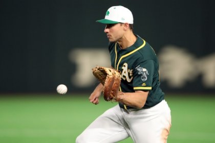 MLB notebook: A's 1B Olson out after hand surgery