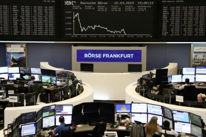 Positive German data tempers equity selloff, lifts bond yields