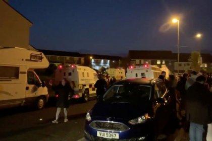 Eine Tote bei Ausschreitungen in Nordirland