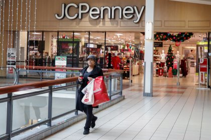 J.C. Penney sales fall short, net loss doubles; shares sink