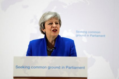 UK will not leave the EU unless have cross-party support for Brexit deal - May