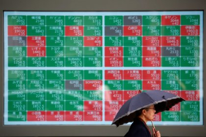 Fears of deeper U.S.-China trade war push Asian shares to four-month low