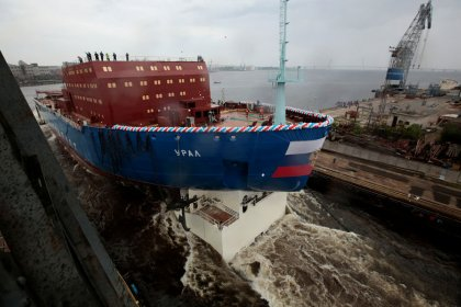 Russia, eyeing Arctic future, launches nuclear icebreaker