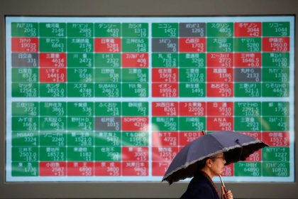 Asian shares inch up as investors await Trump-Xi meeting