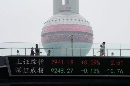Índices da China recuam após estabilidade dos preços ao produtor alimentar preocupações