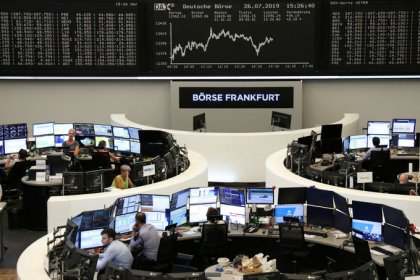European shares edge lower as Heineken disappoints; Fed in focus